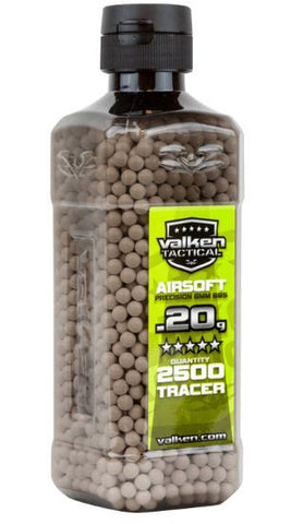 Valken Tactical 0.20g Tracer BBs 2500CT