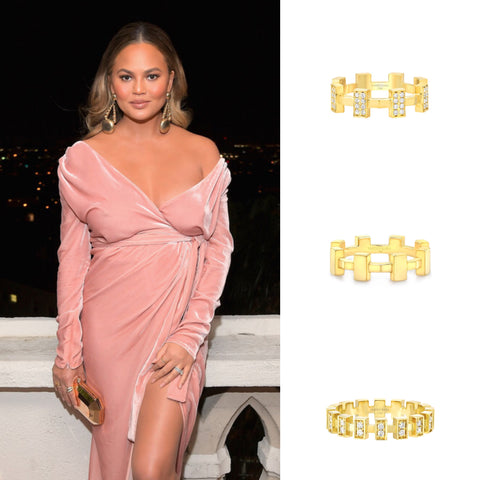 Chrissy Teigen GQ Men of the Year Awards Party Vardui Kara Jewelry
