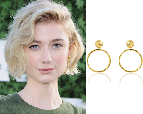Elizabeth Debicki Vardui Kara Gold Hoop Earrings