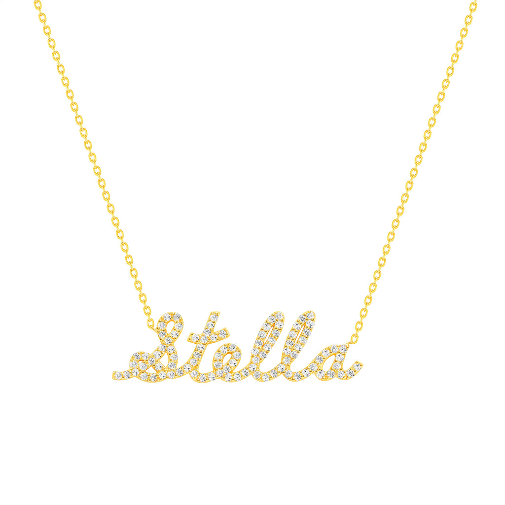 personalized diamond name necklace