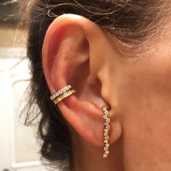 Freeform Diamond Earring