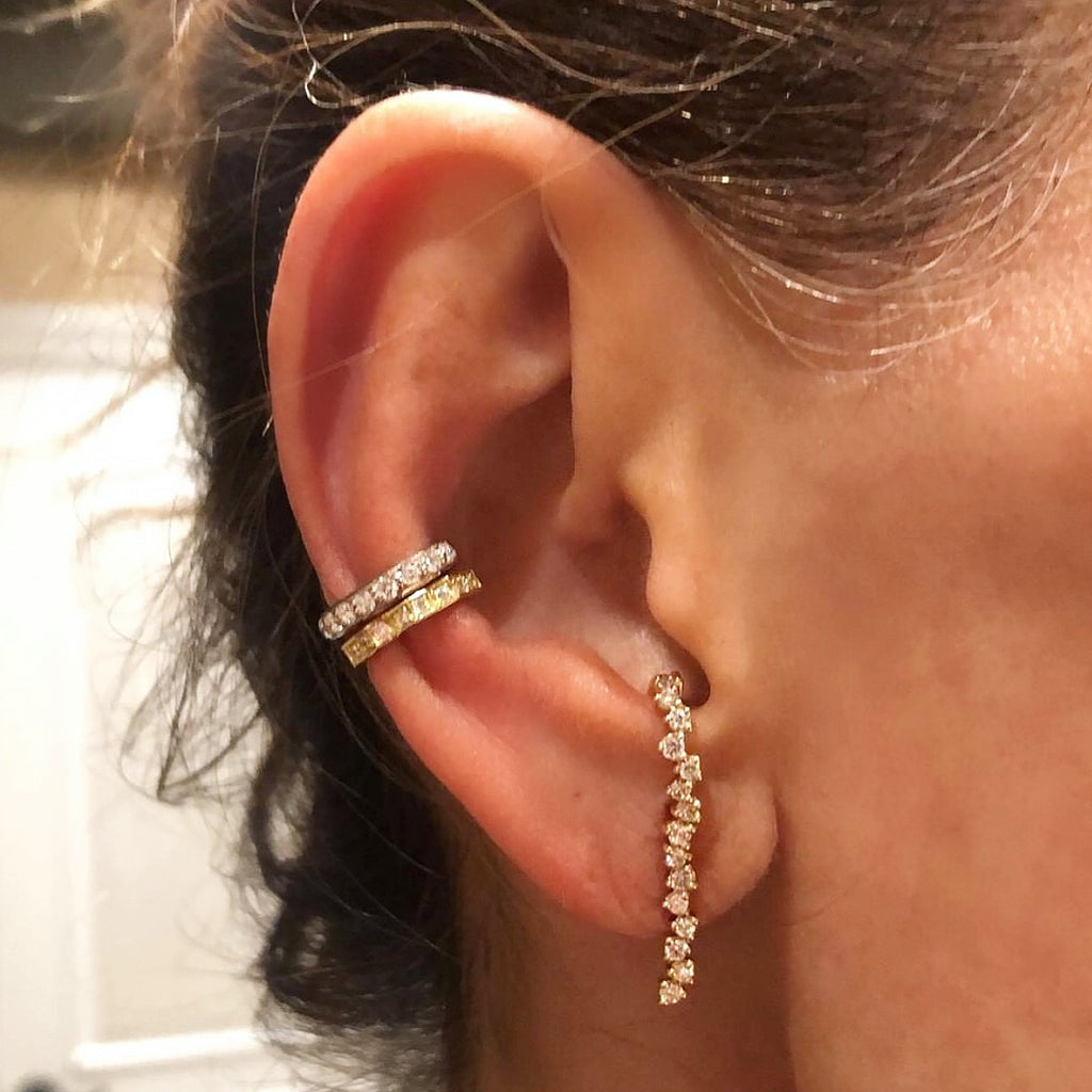 gold and diamond ear cuffs
