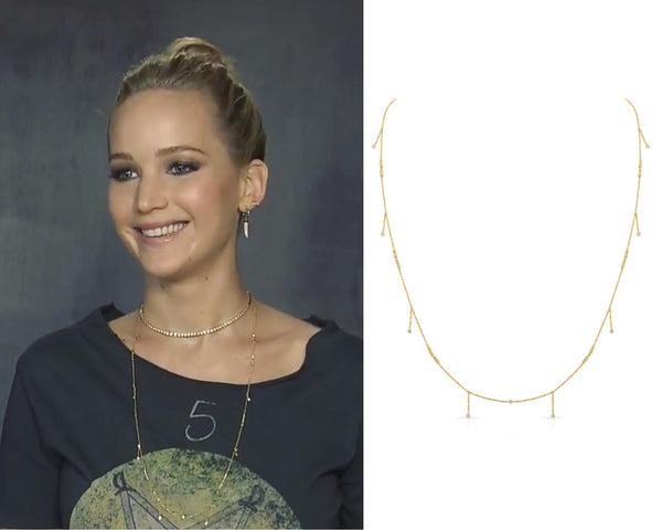 Jennifer Lawrence Vardui Kara Diamond Necklace