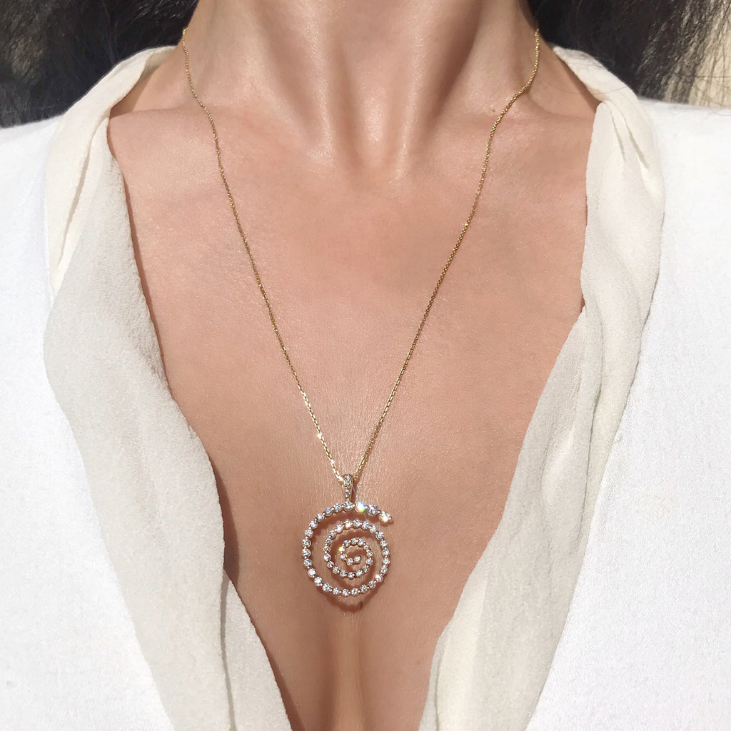 diamond spiral necklace vardui kara