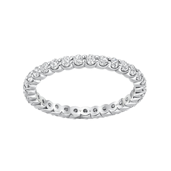 eternity white gold rings