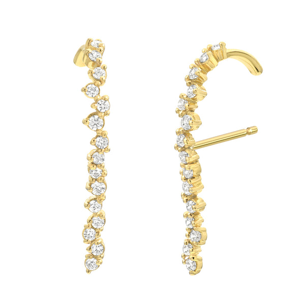 vardui kara freeform diamond earrings