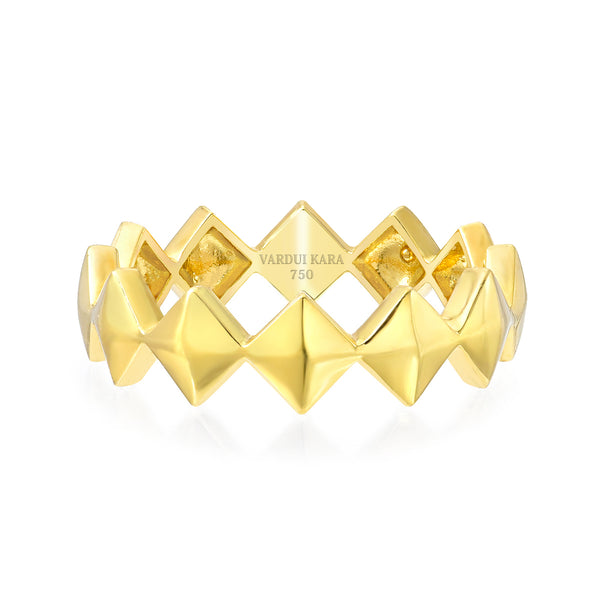 victorious tattoo ring 18k gold