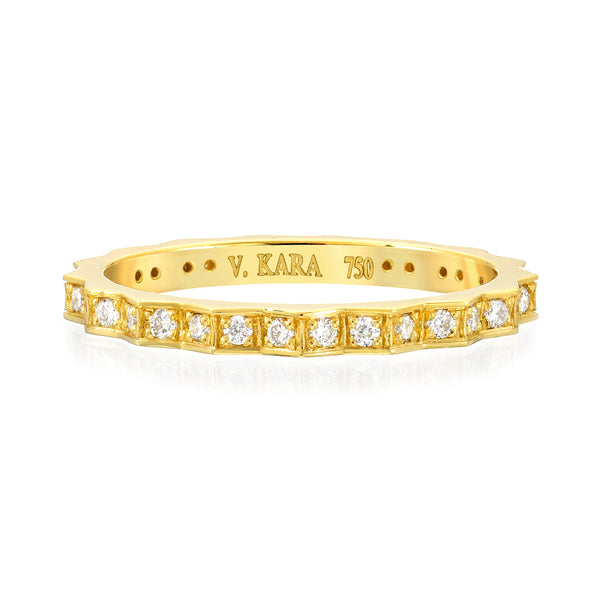 fortress diamond peak eternity ring 18k gold vardui kara