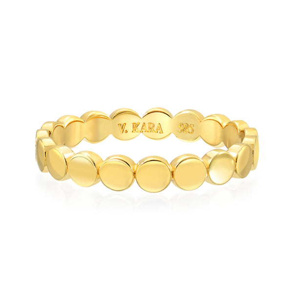 14k gold circle happy ring