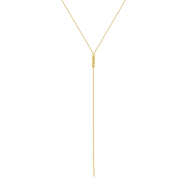 fortress diamond peak lariat necklace