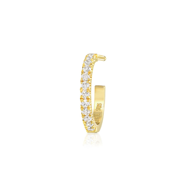 mini diamond hoop earring vardui kara