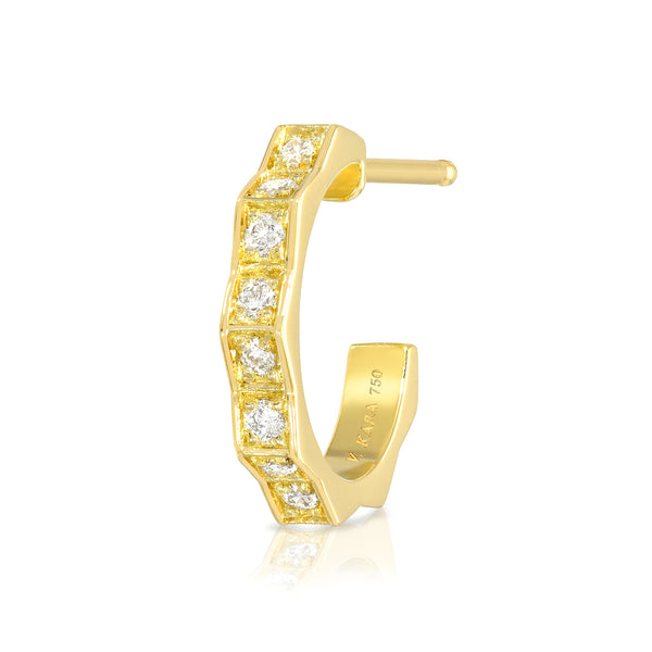 fortress diamond peak hoop earring vardui kara