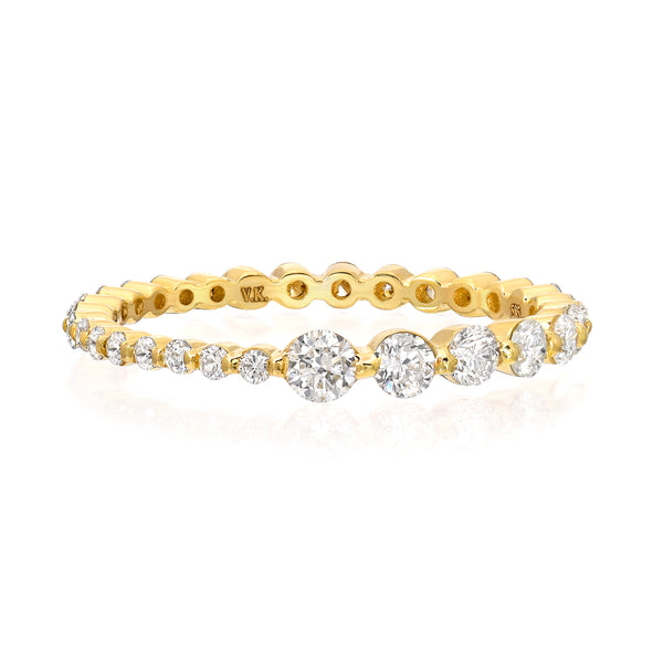 14k gold ascending diamond eternity ring vardui kara