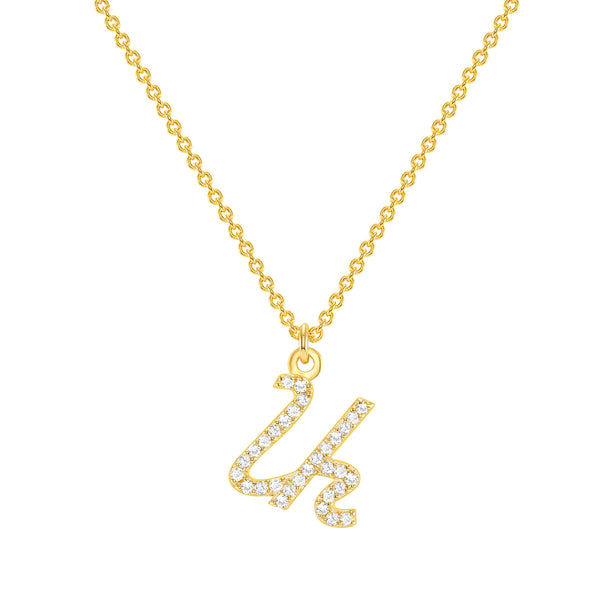 Diamond Armenian Initial Necklace