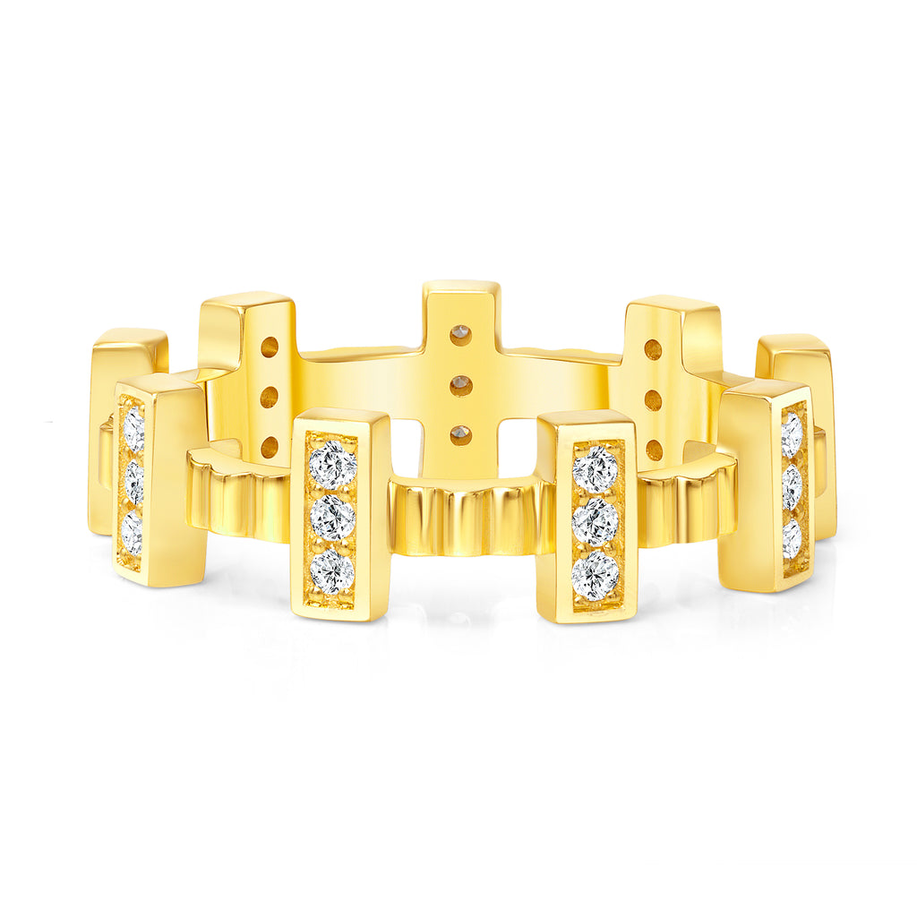 fortress II diamond ring stackable ring 18 karat gold