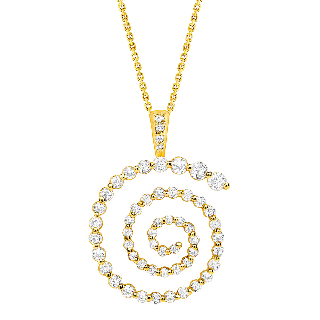 diamond spiral pendant necklace vardui kara