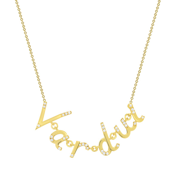 letter pendant necklace gold