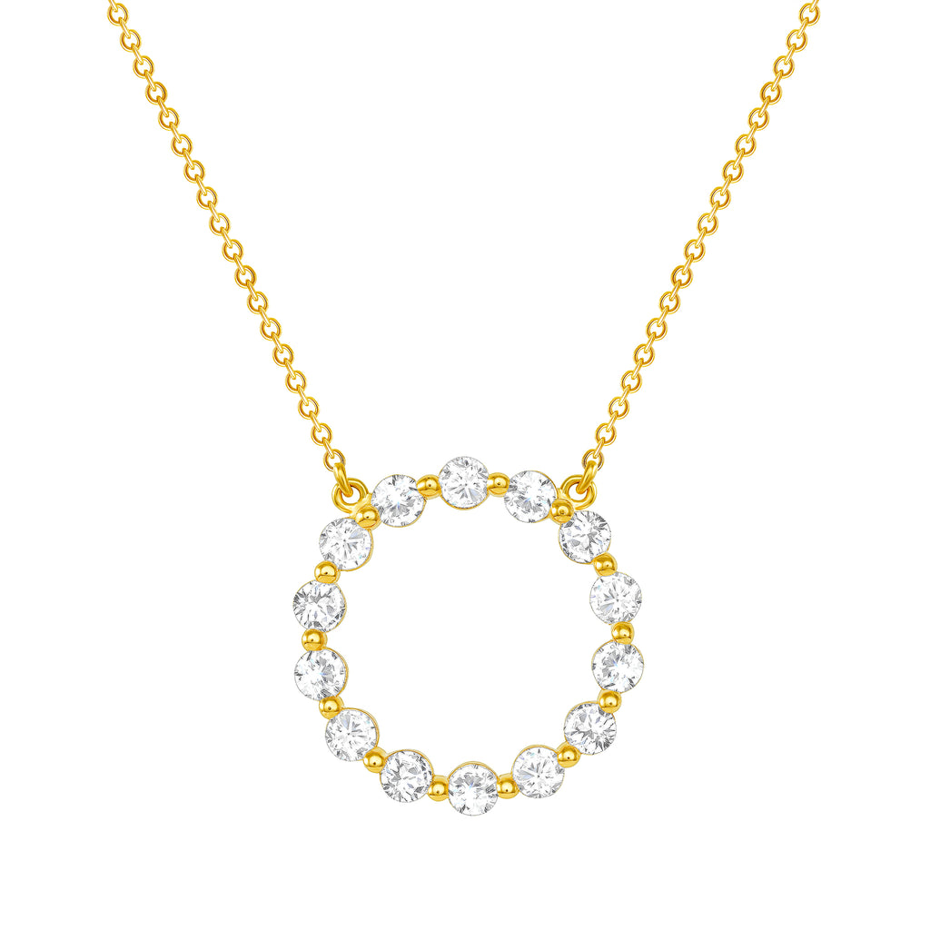 diamonds circle necklace vardui kara