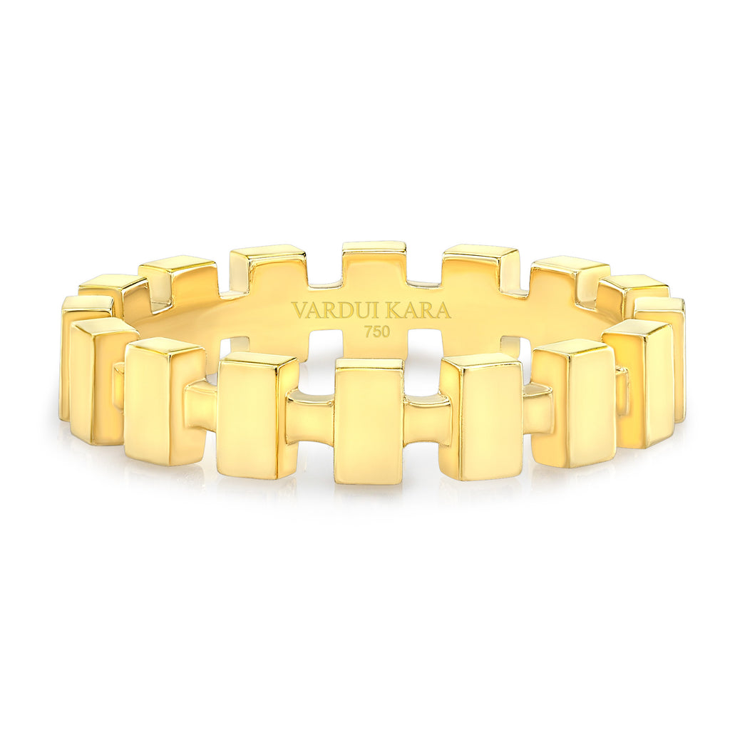 Merlon Petite Ring 18K Yellow Gold