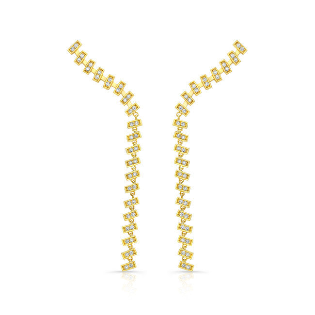 Merlon Rivulet Diamond Earrings