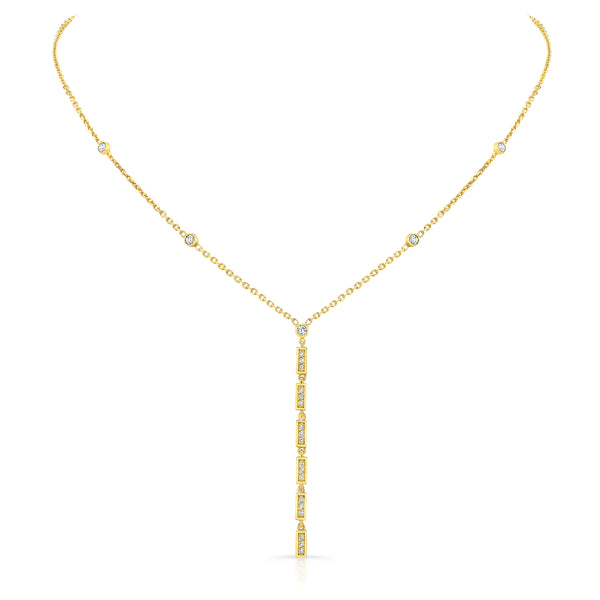 Vertical Diamond Bar Necklace