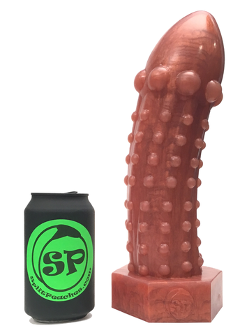 The Rivetor - Large Metallic Bronze Silicone Dildo