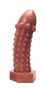 The Rivetor - Medium Metallic Bronze Silicone Dildo - SplitPeaches.com - 1