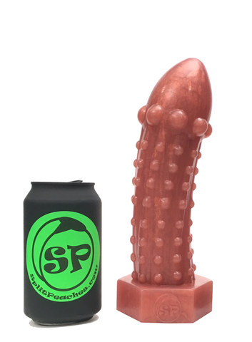 The Rivetor - Medium Metallic Bronze Silicone Dildo