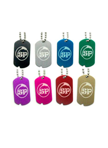 Split Peaches Dog Tags