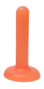 Starter Anal Play Toy Florescent Orange Silicone - SplitPeaches.com - 1