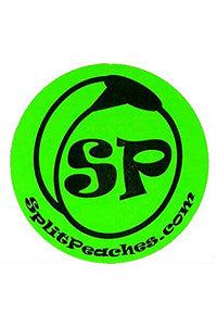 Split Peaches Neon Green Sticker