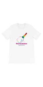 Ride The Rainbow Short-Sleeve Unisex T-Shirt