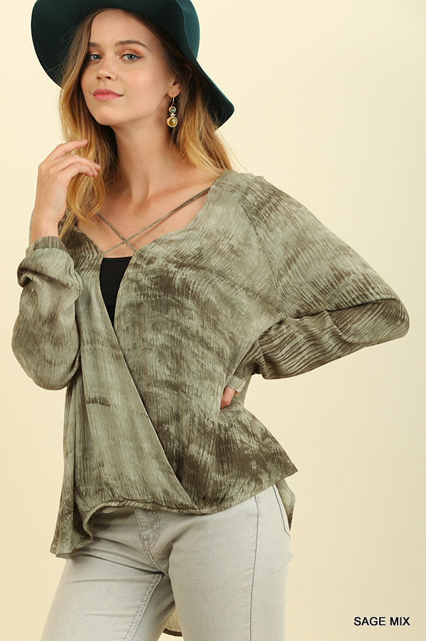 Surplus Top with Crossed Neckline