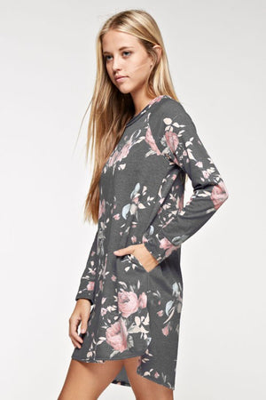 Floral French Terry Dress