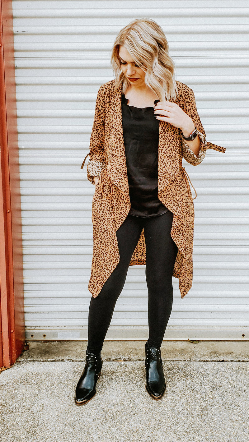 Leopard Draped Jacket