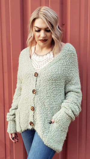 Mohair Button Down Sweater