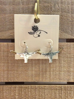 Bull head earrings