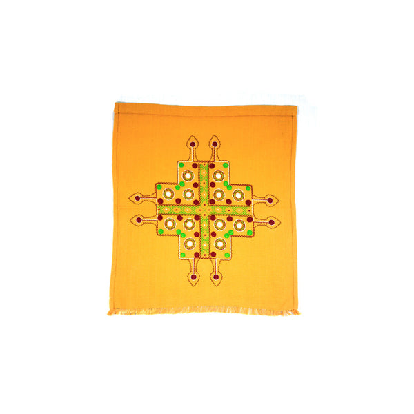 Cross Orange Coffee Table Cover
