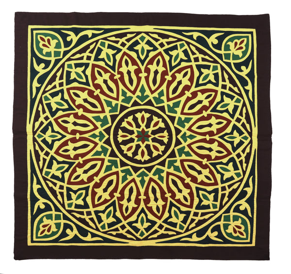 Yellow Tapestry Geometrical Design