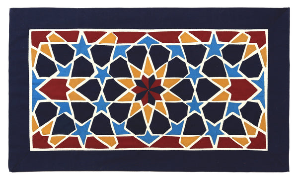 Orange and Blue  Geometric Design