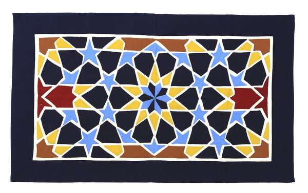Yellow and Blue Geometric Design