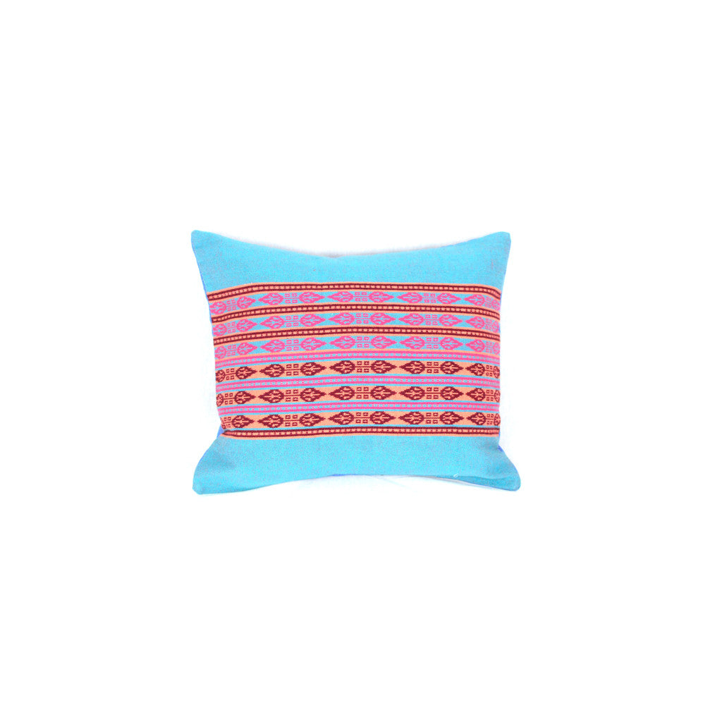 Bedouin Blue Pink Pillow