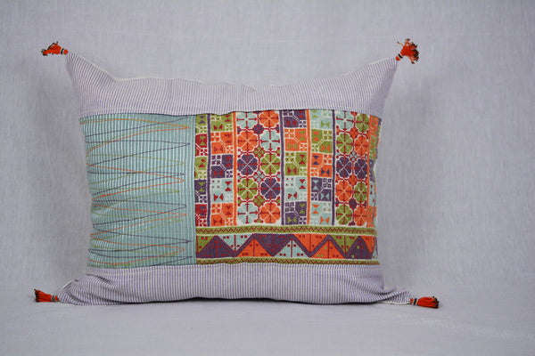 Sunrise Embroidered Pillow-D