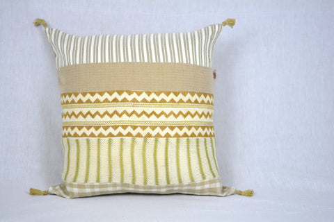 Ivory Gold Embroidered Pillow