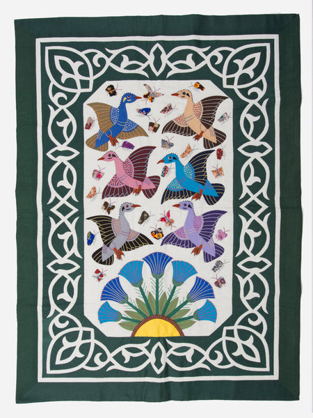 Pharaonic ducks, Lotus flowers and framed in an arab design-D