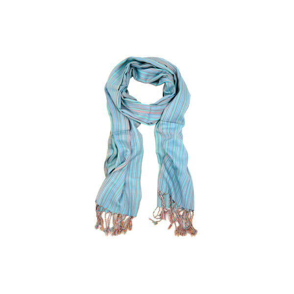 Blue Small Stripes Scarf-D