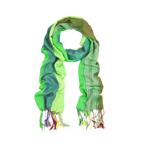 Green Shades Stripes Scarf