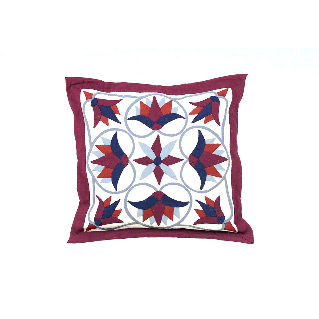 Lotus Colorful Red Pillow
