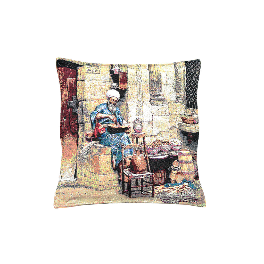 Old Egypt - Friday Market Pillow-D
