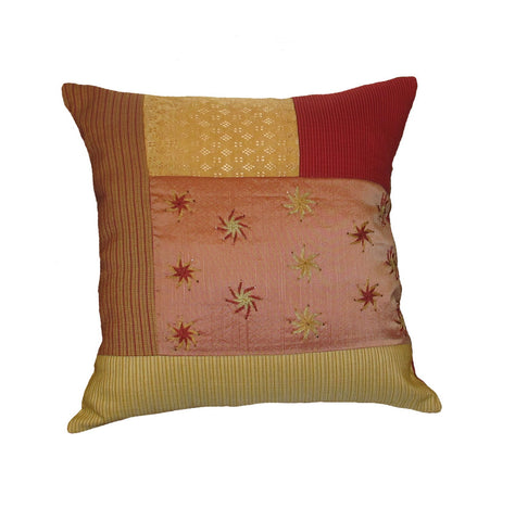 Golden Shine Embroidered Pillow